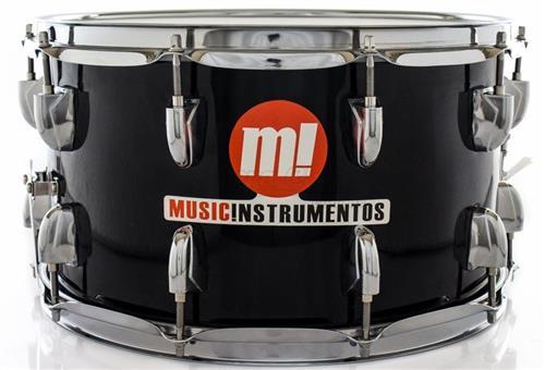 "Caixa PHX Music Instrumentos Basswood Black 580-PVC-BK 14x8"" Ballad Snare"