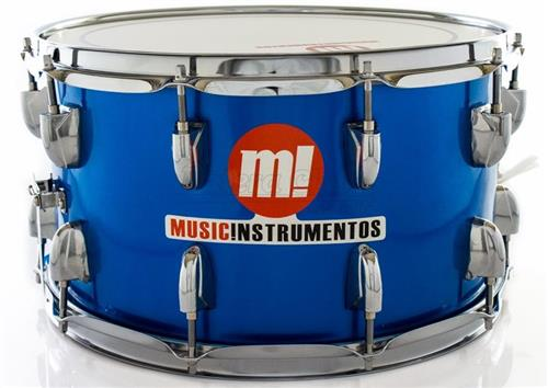 "Caixa PHX Music Instrumentos Basswood Royal Blue 580-PVC-AZ 14x8"" Ballad Snare"