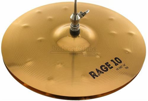 "Chimbal Orion Rage 10 Medium Hi-Hat 14"" RG14HH em Bronze B10"