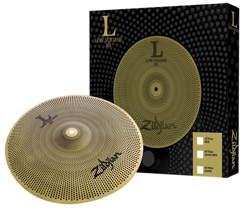 "Crash Zildjian Low Volume L80 16"" LV8016C-S com Volume até 80% Menor"
