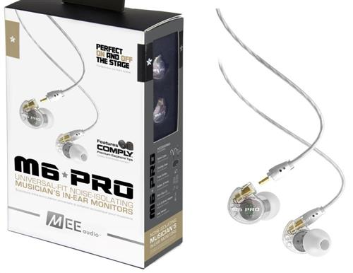 Fone de Ouvido Mee Audio M6 Pro Clear In Ear com Cabo Destacável, Bag e Diversos Plugs