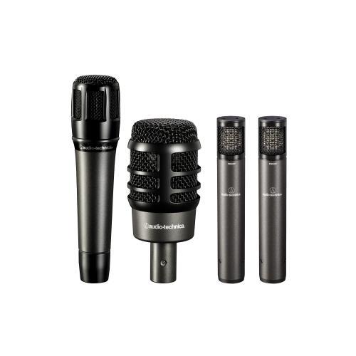 Kit de Microfones Audio-Technica ATM-DRUM4 com 4 Peças, Case e Clamps para Bateria