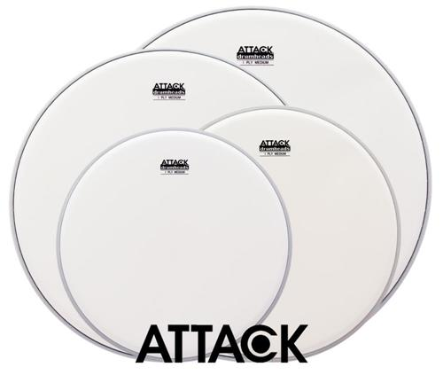 "Kit de Peles Attack Drumheads 1-Ply Medium Coated Frost Bite Porosa 12"", 13"", 16"", 14"" DHAFBPACKi"