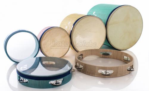 Kit de Surdinhos JOG Vibratom P3650 com 6 Peças em Madeira e Baquetas (Musicalização Infantil)