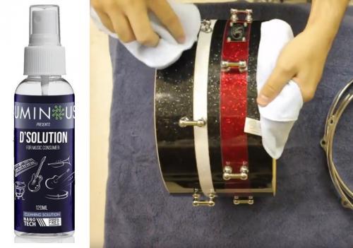 Limpador de Tambores, Ferragens e Pratos DSolution Cleaner Nano Tech Cleaning Solution