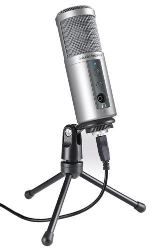 Microfone Audio-Technica Atr Series ATR2500-USB Condensador Cardioide Ideal p/ Home Studio cabo USB