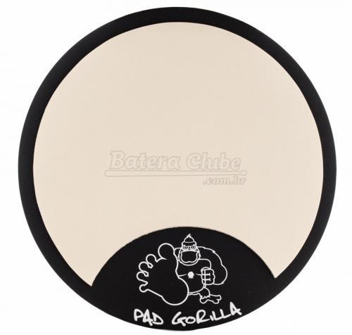 """Pad de Estudo Gorilla Clássico 8"""" PG8 com Borracha Superior Independente da Base de Madeira"""