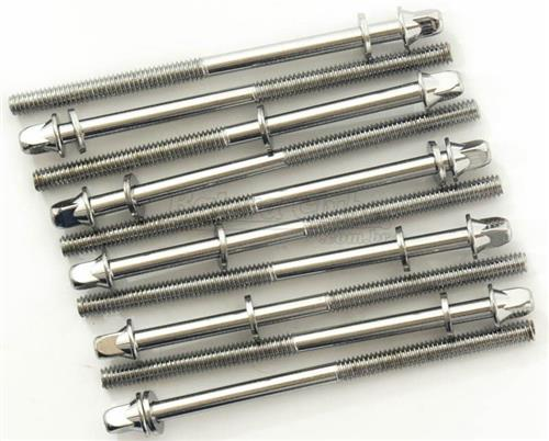 Parafuso Ahead Tension Rods 90MM-10 Kit com 10 Unidades para Afinação 90mm Padrão Top de Bumbo