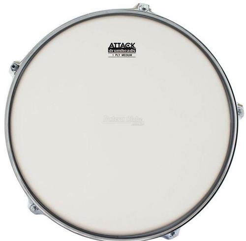 "Pele Attack Drumheads 1-Ply Medium Coated Frost Bite 16"" Filme Único Porosa DHAFB16C"