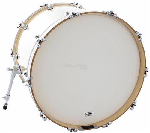 "Pele Attack Drumheads 1-Ply Medium Coated Bass 20"" Filme Único Porosa de Bumbo DHA20C"