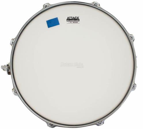 "Pele Attack Drumheads 1-Ply Medium Coated Frost Bite 14"" No Overtone DHNOFB14C com Moongel"