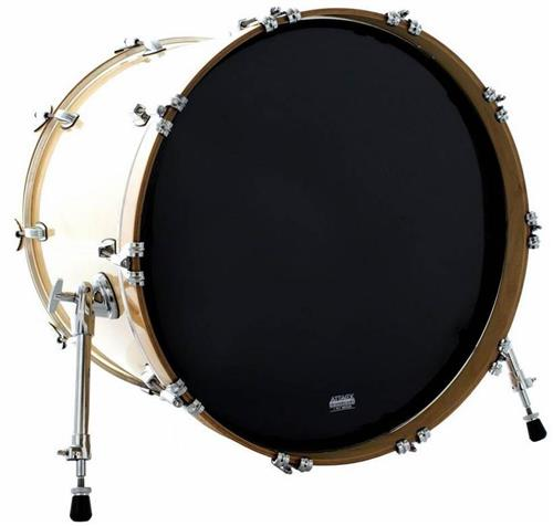 "Pele Attack Drumheads 1-Ply Medium Hazy Black Bass 24"" Filme Único Preto Resposta de Bumbo DHA24B"