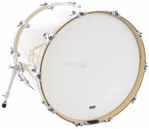 "Pele Attack Drumheads 2-Ply Thin Skin 3 Coated 22"" Pele de Bumbo Porosa Muffle Abafador DHTS3NO22C"