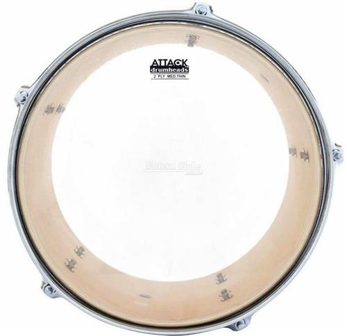 "Pele Attack Drumheads 2-Ply Thin Skin Clear 18"" Filme Duplo Transparente Mais Fino DHTS2-18"