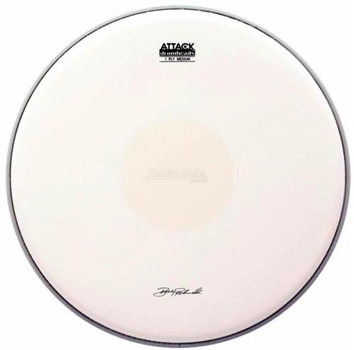 """Pele Attack Drumheads Signature Bobby Rondinelli 14"""" BR14C Medium Coated Dot com Bola Central"""