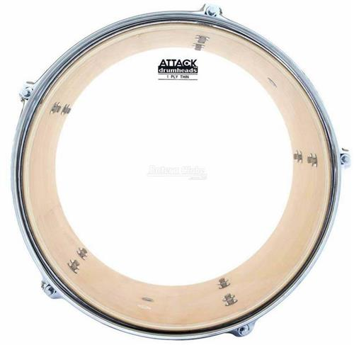 "Pele Attack Drumheads Thin Skin 1-Ply Clear 08"" Filme Único Fino Resposta DHTS8"