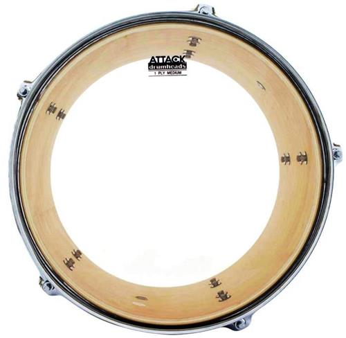 "Pele Attack Drumheads 1-Ply Medium Clear 12"" Filme Único Transparente DHA12"