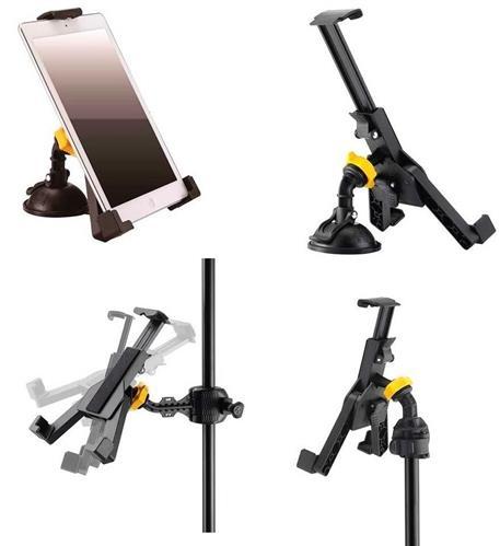 Suporte para Tablets Hercules DG305B para fixar em estantes de bateria e microfone (10700)