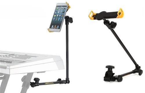 Suporte para Tablet Hercules DG320B para fixar em pedestais de microfone, racks e teclados (9738)