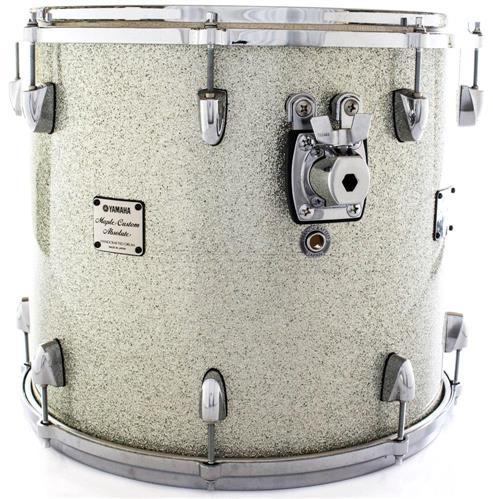 """Surdo 16"""" Yamaha Maple Custom Absolute Silver Sparkle 16x13"""" (Liquidação)"""