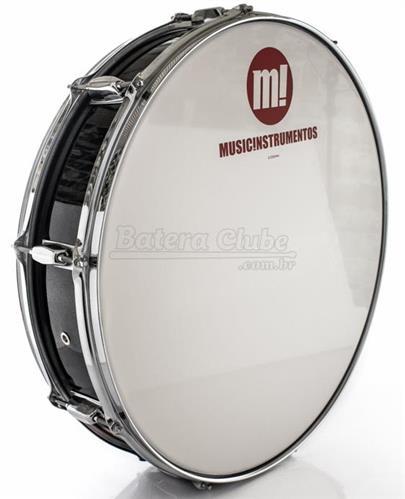 "Zabumba PHX Music Instrumentos Basswood Black 518R-DP-BK 22x5"""