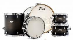 "Bateria Pearl Decade Maple Satin Black Burst 22"",10"",12"",16"" com Caixa (Shell Pack)"