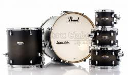 "Bateria Pearl Decade Maple Satin Black Burst 20"",8"",10"",12"",14"" com Caixa (Shell Pack)"