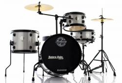 Bateria Ludwig Pocket Kit by Questlove Signature Silver Sparkle Compacta com Ferragens e Pratos