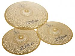 "Kit de Pratos Zildjian Low Volume L80 com Chimbal 13"" e Crash/Ride 18"" LV38 Volume até 80% (Saldão)"