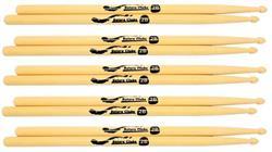 Baquetas Batera Clube by Liverpool 2B Clássica (Padrão 2B) Pacote com 5 Pares Marfim Wood Nirvana