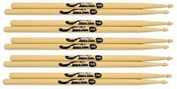 Baquetas Batera Clube by Liverpool 5B Comprida (Padrão 5B) Pacote com 5 Pares Marfim Wood Nirvana