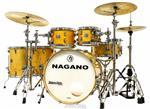 "Bateria Nagano Work Series Birch Natural Lacquer 20"",10"",12"",14"",16"" com Ferragens Top da Marca"