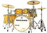 "Bateria Nagano Work Series Birch Natural Lacquer 20"",8"",10"",12"",14"",16"" com Ferragens Top da Marca"