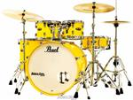 "Bateria Pearl Decade Maple High Gloss Solid Yellow 22"",10"",12"",16"" com Kit de Ferragens 830"