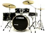 "Bateria Yamaha Stage Custom Birch Raven Black Lacquer 22"",10"",12"",14"",16"" com Ferragens"