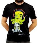 Camiseta Batera Clube by VanRock Pápururu Series Tamanho P Preta PPS5 em Fio 30.1 Estampa Digital