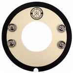 """Controlador de Caixa Big Fat Snare Drum Snare-Bourine Donut c/ Furo e Platinelas 14"""" Som Extra Grave"""