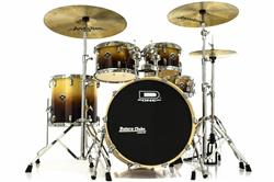 "Bateria D-One Fusion Series Birch DF20 NS Natural Fade 20"",10"",12"",14"" com Ferragens"