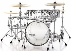 "Bateria DW Design Series Acrylic Clear Shell 22"",8"",10"",12"",14"",16"" (Shell Pack)"