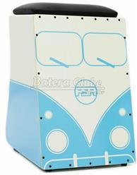 Cajón FSA Limited Series Kombi V-Dub FLS02 Azul Assento com Almofada e Dupla Captação Ativa
