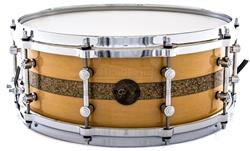 "Caixa Gretsch Limited Edition Gold Series Maple Natural Gloss Gold Sparkle Stripe 14x5,5"" Die-Cast"