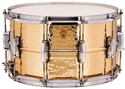 "Caixa Ludwig Bronze Phonic LB508K Hammered Shell 14x8"" Made in USA com Casco Martelado"
