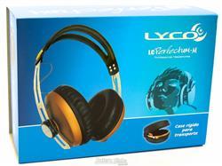 Fone de Ouvido Lyco LC Perfectum-M Marrom com Plug P10, Case e Articulação Compacta