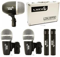 Kit de Microfones Lyco LDK5PRO com 5 Peças, Case, Clamps e Cachimbos