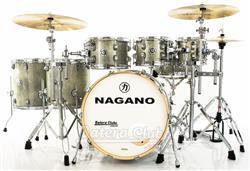 "Bateria Nagano Work Series Birch Artic Sparkle 20"",8"",10"",12"",14"",16"" com Ferragens Top da Marca"