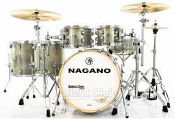 "Bateria Nagano Work Series Birch Artic Sparkle 20"",10"",12"",14"",16"" com Ferragens Top da Marca"