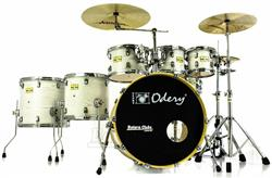 "Bateria Odery Fluence Jam Session FL.220 White Ash Maple 22"",8"",10"",12"",14"",16"" com Kit de Ferragens"