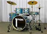 "Bateria Prime America Jazz G-Series Blue Sparkle Bumbo 18"" Pratos e Banco"