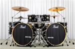 Bateria Pearl Session Studio Classic Double Bass Piano Black com 3 Tons, 2 Surdos e 2 Bumbos