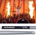 Baqueta Ahead Drumsticks Signature Tommy Lee Concert TC Mötley Crüe (Padrão 2B Comprida) Poliuretano